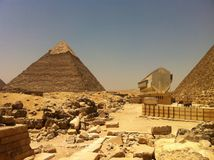 Piramide di Khafre al plateau di Giza Immagine Stock Libera da Diritti