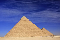 Piramide di Khafre, Il Cairo Immagini Stock Libere da Diritti
