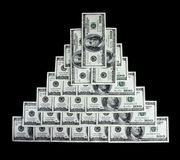 Piramide di Money Immagine Stock