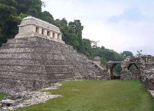 Piramide di Palenque Fotografia Stock Libera da Diritti