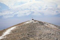 Piramide di preghiera nelle montagne Fotografia Stock Libera da Diritti