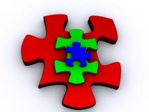 Piramide di puzzle Fotografia Stock Libera da Diritti