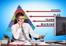 Piramide di successo Immagini Stock Libere da Diritti