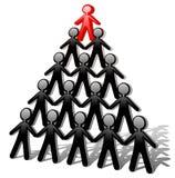 Piramide di successo degli uomini Immagine Stock Libera da Diritti