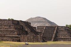 Piramide di Sun di Teotihuacan fotografie stock libere da diritti