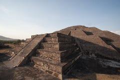 Piramide di Teotihuacan della luna nel Messico Fotografia Stock Libera da Diritti