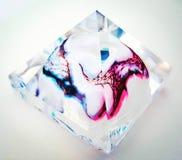 Piramide di vetro di arte Fotografia Stock