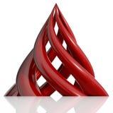 Piramide die van spiraalvormige elementen wordt gecre?ërd. Stock Foto