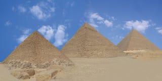 Piramide drie Stock Afbeeldingen