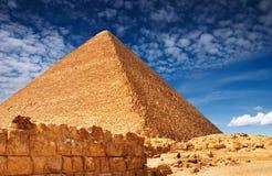Piramide egiziana Fotografie Stock
