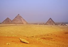 Piramide egiziana Immagine Stock Libera da Diritti