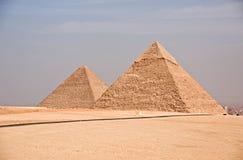 Piramide egiziana antica di Giza Immagini Stock Libere da Diritti