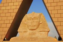 Piramide - Egyptische Sfinx Royalty-vrije Stock Afbeelding
