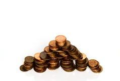 Piramide finanziaria Fotografie Stock Libere da Diritti
