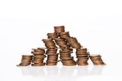 Piramide finanziaria Fotografia Stock