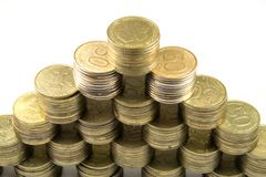 Piramide finanziaria Fotografie Stock