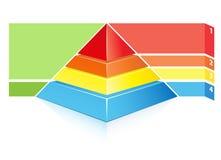 Piramide gerarchica Immagine Stock