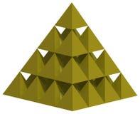 Piramide gialla 3D Fotografie Stock Libere da Diritti