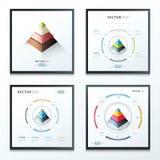 Piramide infographic reeks Royalty-vrije Stock Afbeeldingen