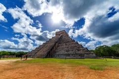 Piramide maya Chichen Itza fotografia stock libera da diritti