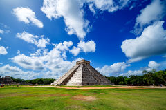 Piramide maya Chichen Itza immagine stock libera da diritti