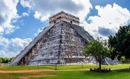 Piramide maya Chichen Itza Fotografie Stock