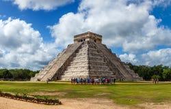 Piramide maya Chichen Itza Fotografia Stock