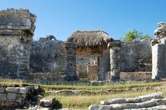 Piramide maya, Tulum, Messico Fotografie Stock Libere da Diritti