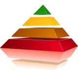 Piramide met Kleuren Stock Foto
