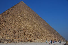 Piramide nell'egitto con il cielo Immagine Stock