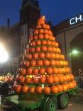 Piramide Ohio dell'albero della zucca di Natale immagini stock libere da diritti