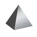 Piramide spazzolata dell'acciaio del metallo di struttura fotografia stock libera da diritti