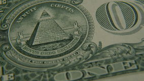 Piramide su un primo piano della fattura del un-dollaro archivi video