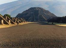 Piramide in teotihuacan, Messico della luna Fotografia Stock Libera da Diritti