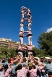 Piramide umana Catalan Fotografia Stock
