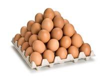 Piramide van bruine eieren Royalty-vrije Stock Afbeelding