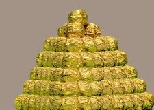 Piramide van chocolade royalty-vrije stock afbeelding