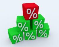 Piramide van de kubussen met percents stock illustratie