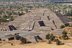 Piramide van de Maan. Teotihuacan, Mexico stock afbeelding