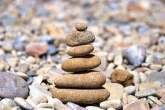 Piramide van de stenen stock foto's