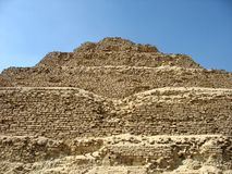 Piramide van Djoser, Egypte Stock Afbeeldingen