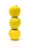Piramide van drie appelen Royalty-vrije Stock Foto's