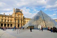 Piramide van het Louvre, Parijs Stock Foto
