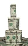Piramide van honderd dollarsrekeningen Royalty-vrije Stock Fotografie