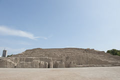 Piramide van Huaca Pucllana Royalty-vrije Stock Foto's