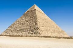 Piramide van Khafre, Giza, Egypte Stock Afbeeldingen