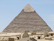 Piramide van Khafre in zonnige sfeer stock afbeelding