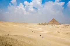 Piramide van Menkaure in Egypte Royalty-vrije Stock Foto's