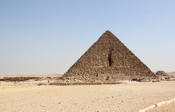 Piramide van Menkaure, Giza, Kaïro, Egypte. Royalty-vrije Stock Foto's