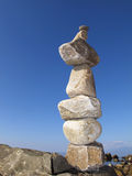 Piramide van stenen Stock Foto